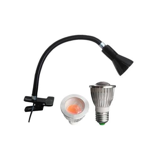لامپ رشد گیاه 5 وات لنزی با پایه کلیپسی
