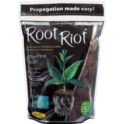 ویول اسفنجی Root Riot پک 50 تایی - (ریشه دهی سریعتر و قویتر)